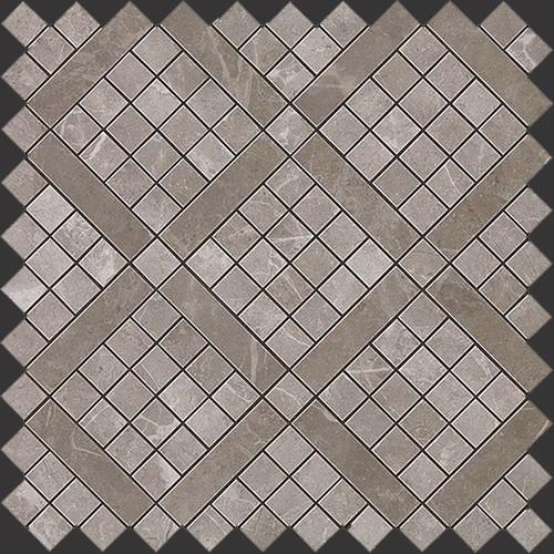 Мозаика Atlas Concorde Italy Marvel Pro +19713 Grey Fleury Diagonal Mosaic 30,5х30,5 мозаичный декор atlas concorde marvel pro noir mix diagonal mosaic 30 5x30 5