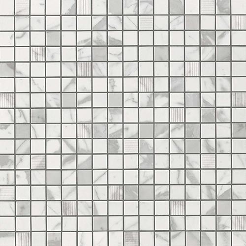 Мозаика Atlas Concorde Italy Marvel Pro +17359 Statuario Select Mosaic 30,5х30,5 мозаичный декор atlas concorde marvel pro noir mix diagonal mosaic 30 5x30 5