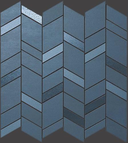 Мозаика Atlas Concorde MEK +26216 Blue Mosaico Chevron Wall бордюр atlas concorde russia royale london bordeaux 5x20