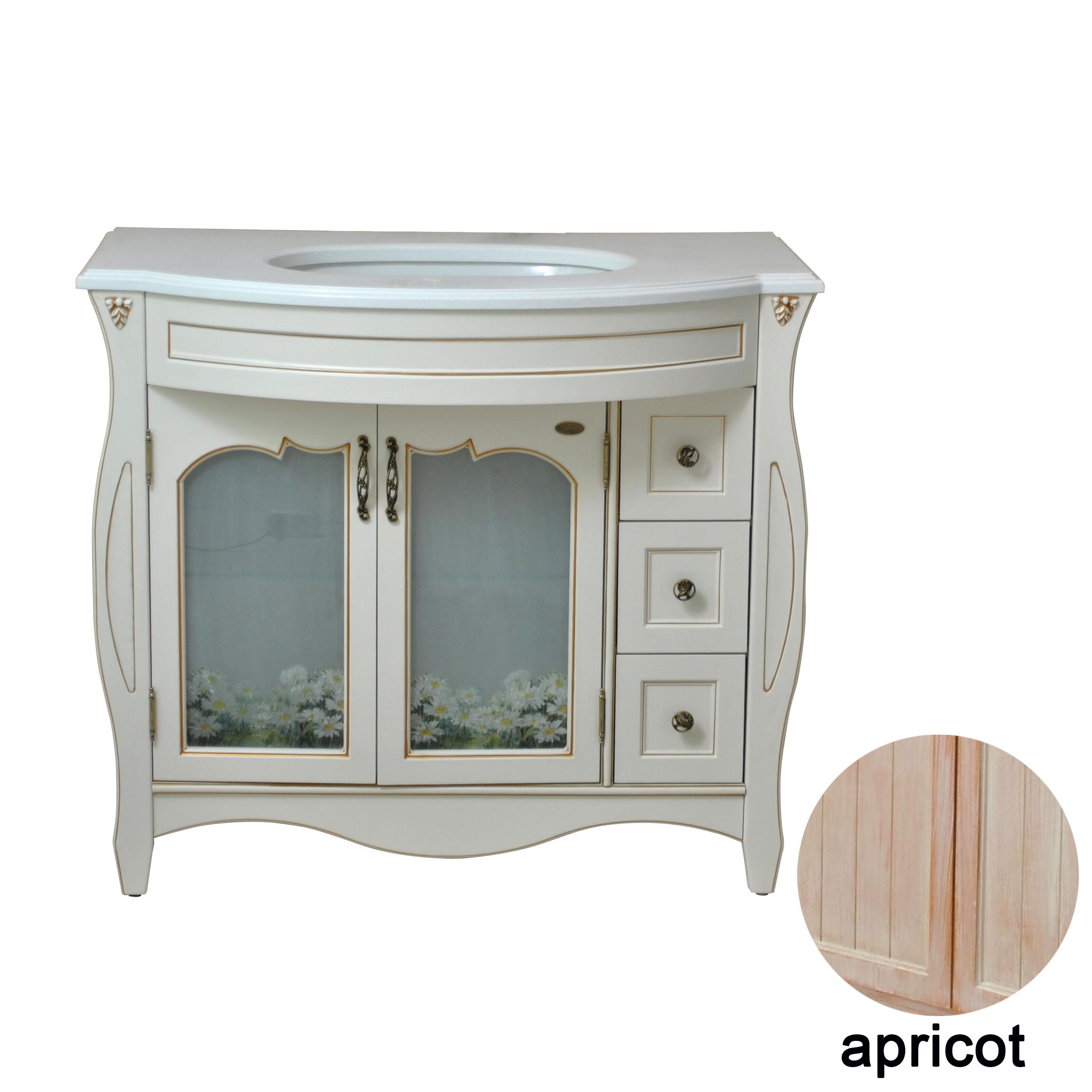 Тумба с раковиной Атолл Ривьера 100 apricot кровать из массива дерева xuan elegance furniture