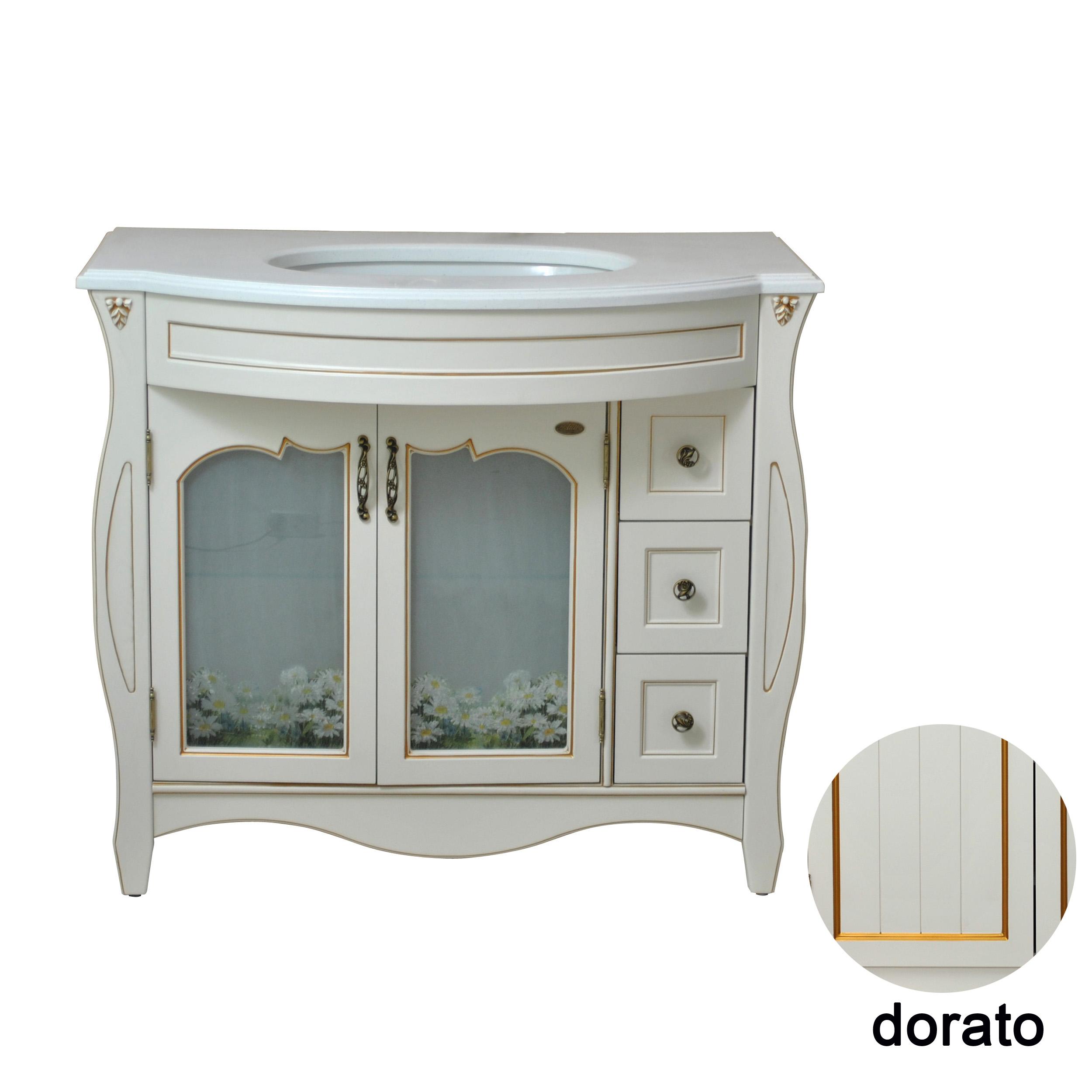 Тумба с раковиной Атолл Ривьера 100 dorato кровать из массива дерева xuan elegance furniture