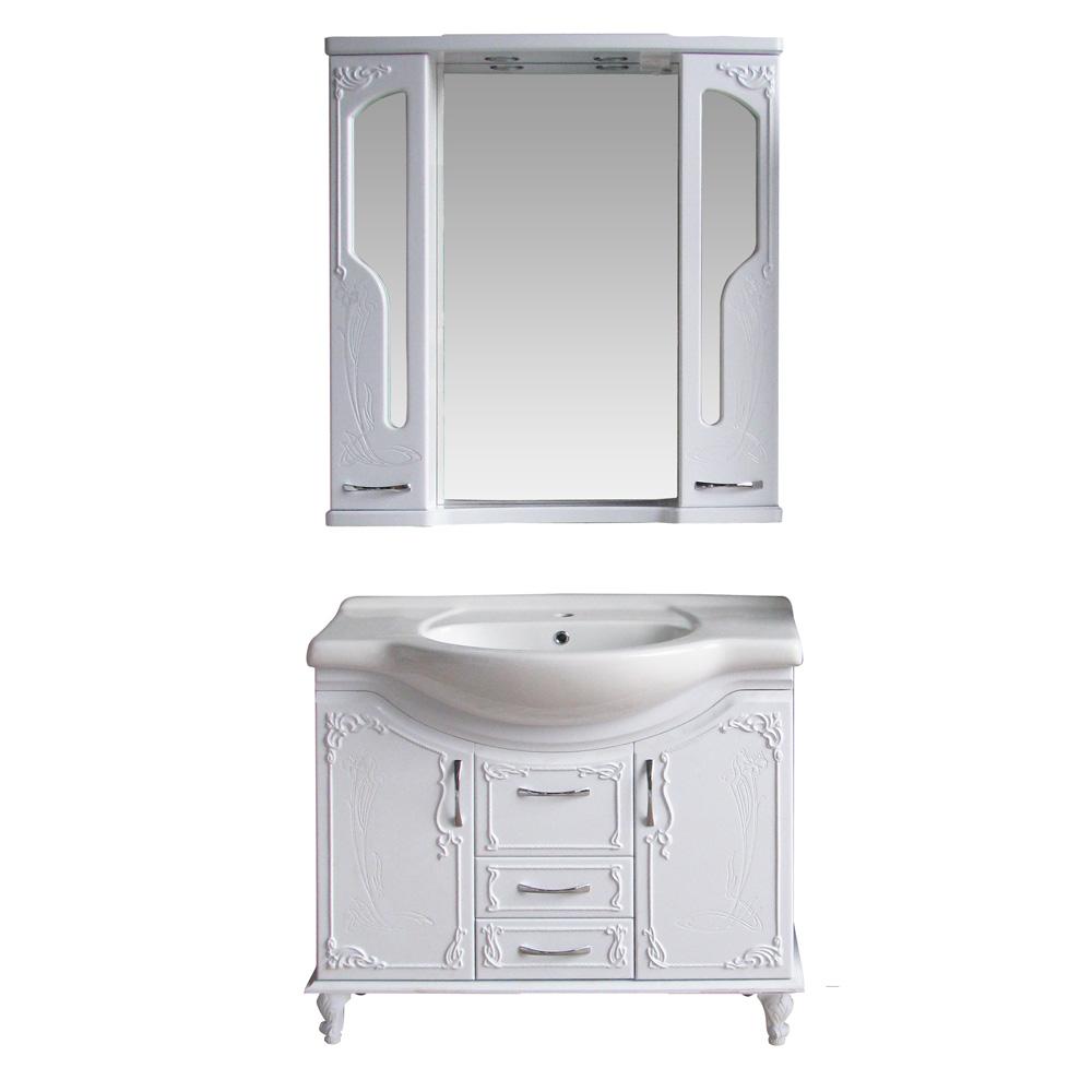 Мебель для ванной Атолл Барселона 295 lucido ( белый глянец) сланцы effa w 52506