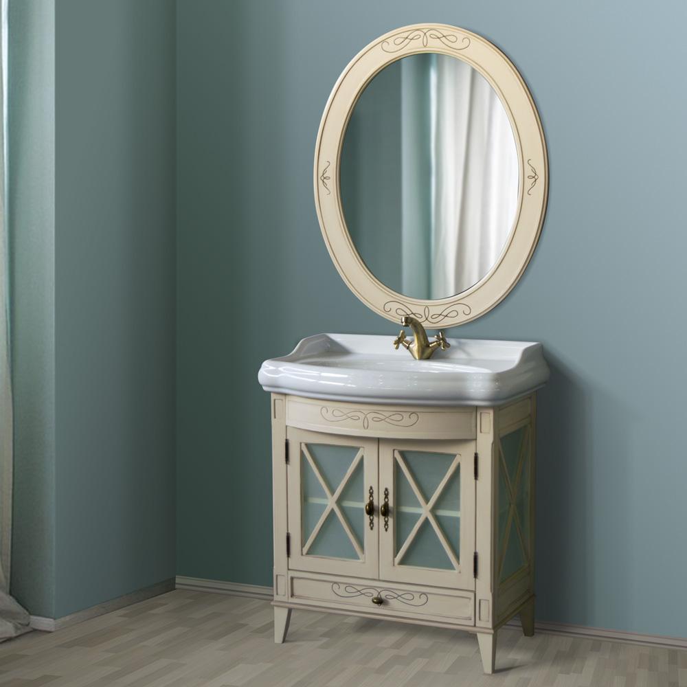 Мебель для ванной Атолл Ретро Old ivory (слонова кость состаренная) тумба с раковиной атолл джулия двойная old ivory слонова кость состаренная