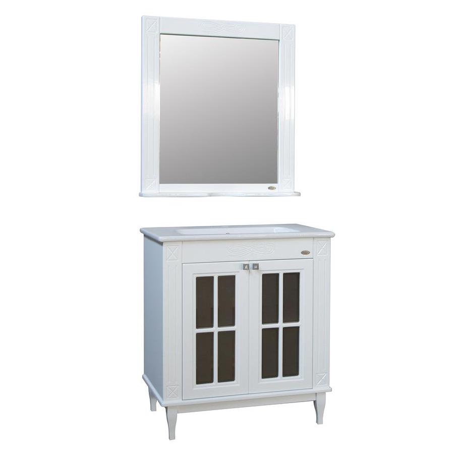 Мебель для ванной Атолл Милана белый глянец caprigo мебель для ванной caprigo джардин 80 ontano