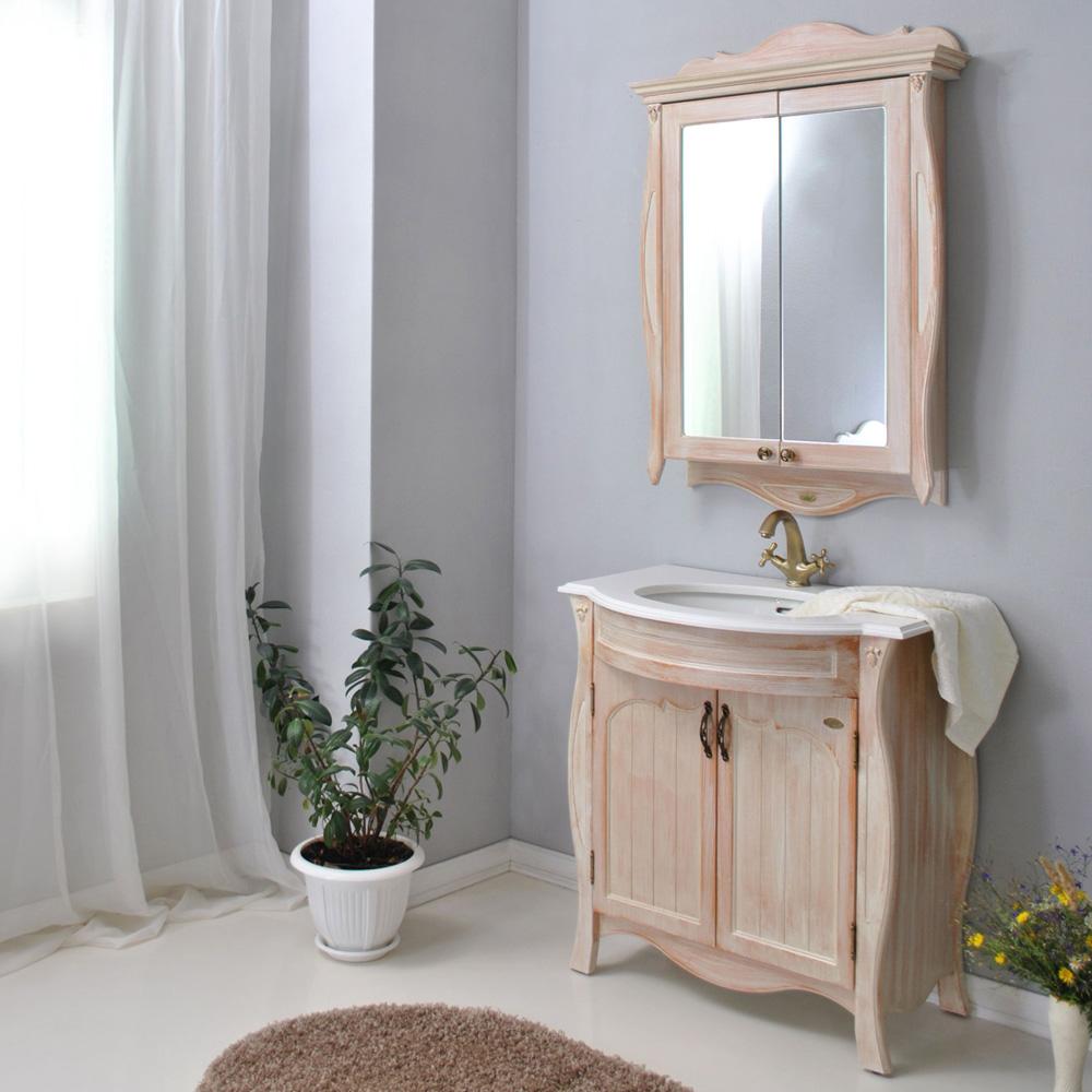 Мебель для ванной Атолл Ривьера apricot тумба с раковиной атолл ривьера 100 apricot
