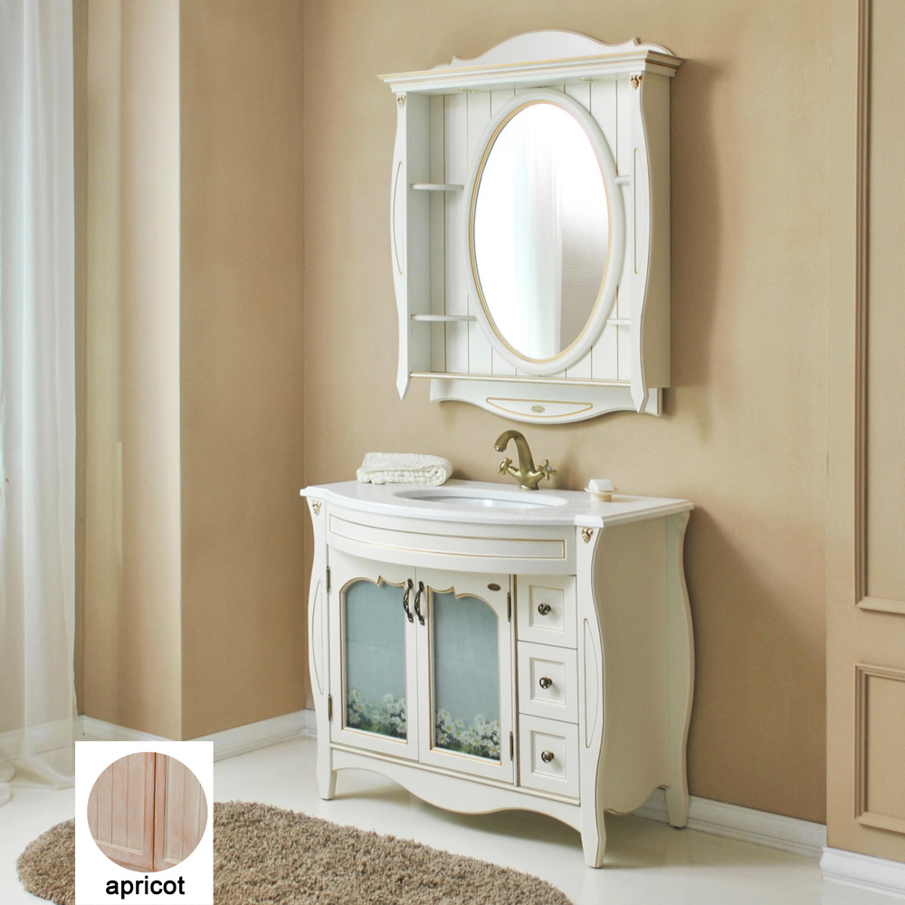 Мебель для ванной Атолл Ривьера 100 apricot тумба с раковиной атолл ривьера 100 apricot