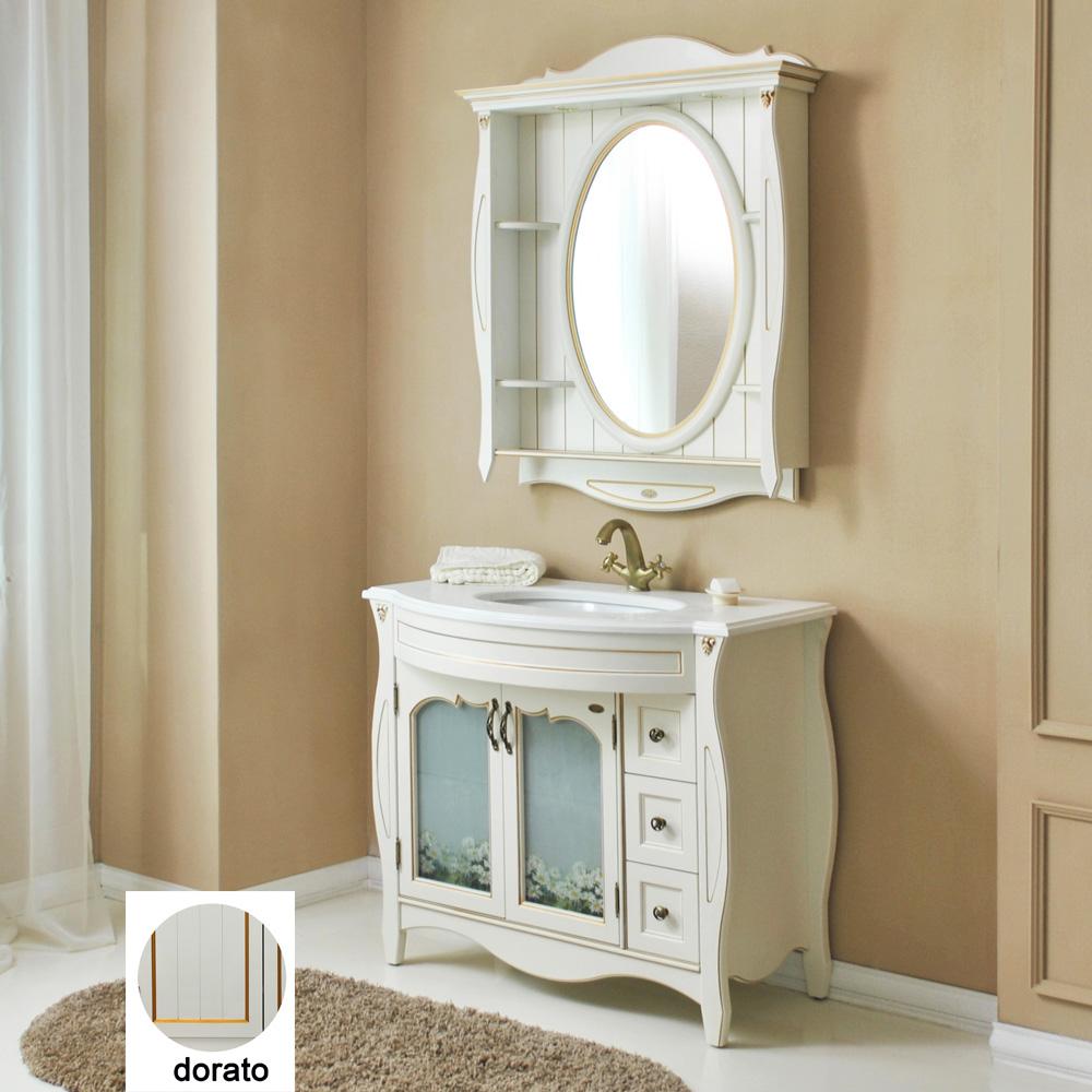 Мебель для ванной Атолл Ривьера 100 dorato тумба с раковиной атолл ривьера 100 dorato