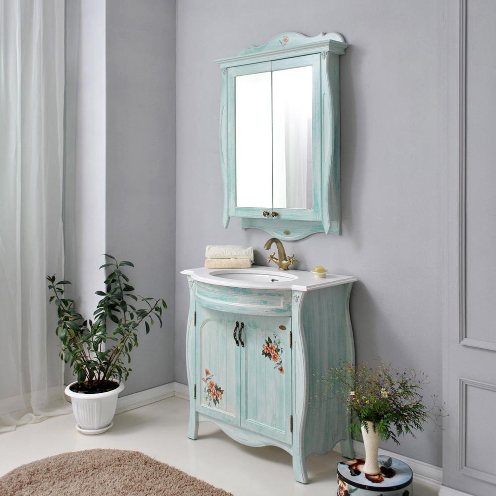 Мебель для ванной Атолл Ривьера heaven (небесно голубой) тумба с раковиной атолл ривьера heaven небесно голубой