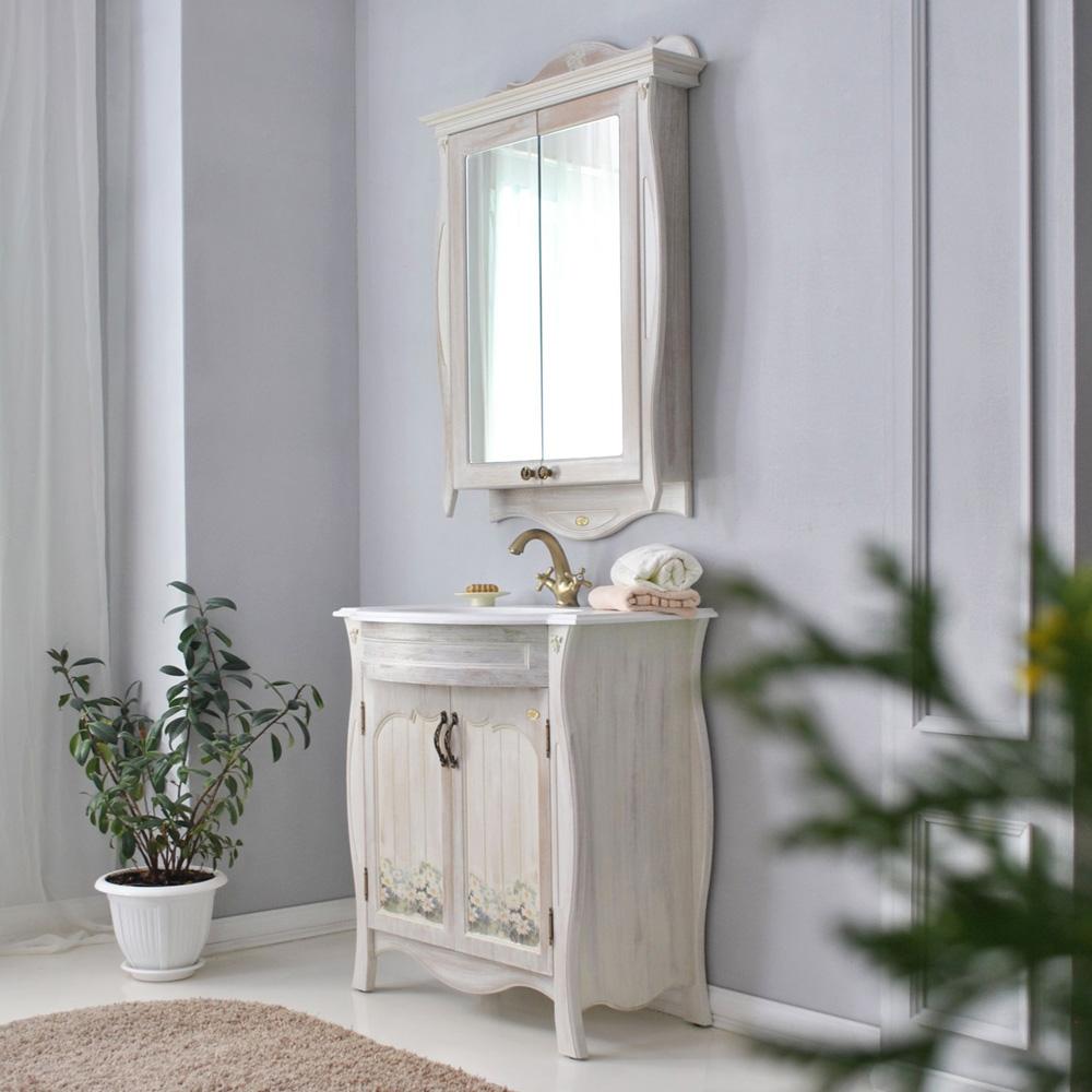 Мебель для ванной Атолл Ривьера daisy (ромашки) тумба с раковиной атолл ривьера daisy ромашки