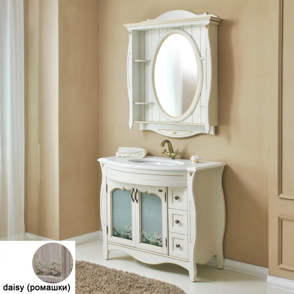 Мебель для ванной Атолл Ривьера 100 daisy (ромашки) тумба с раковиной атолл ривьера daisy ромашки