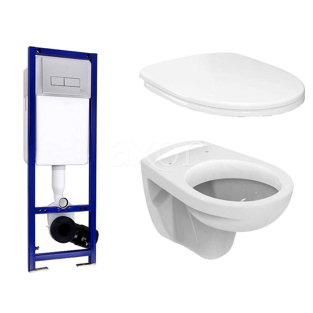 Комплект Ideal Standard Set W770101 подвесной унитаз+инсталляция+сидение комплект iddis ne01ps0i73 унитаз подвесной инсталляция сиденье с функцией soft close
