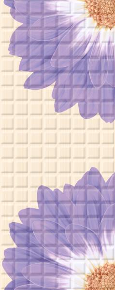 Mariscos Плитка настенная Floris Lila 20,1х50,5 fantasy lila плитка настенная 20х50