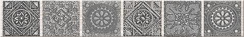 Grazia Бордюр Grey Nefertiti 6,2х40,5 бордюр grazia vintage bordura ivory 3 5x20