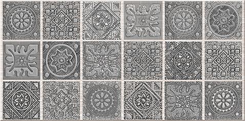 """Grazia Декор Grey """"Nefertiti"""" 20,1х40,5 декор grazia essenze onda 3x26 magnolia"""