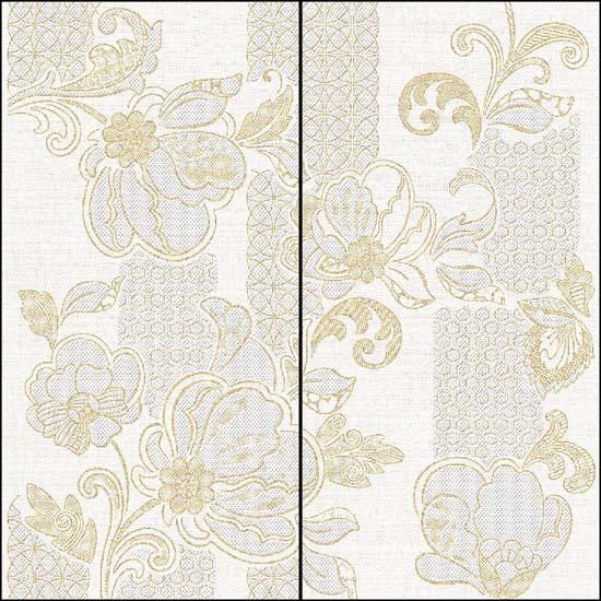 Illusio Панно Beige Pattern - комплект из 2 плиток 315x630 мм/630x630 мм/3 azori illusio beige 31 5x63