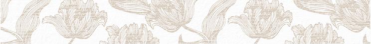 Mallorca Бордюр Beige Floris 7,5x63 плитка настенная 31 5х63 mallorca beige floris бежевый