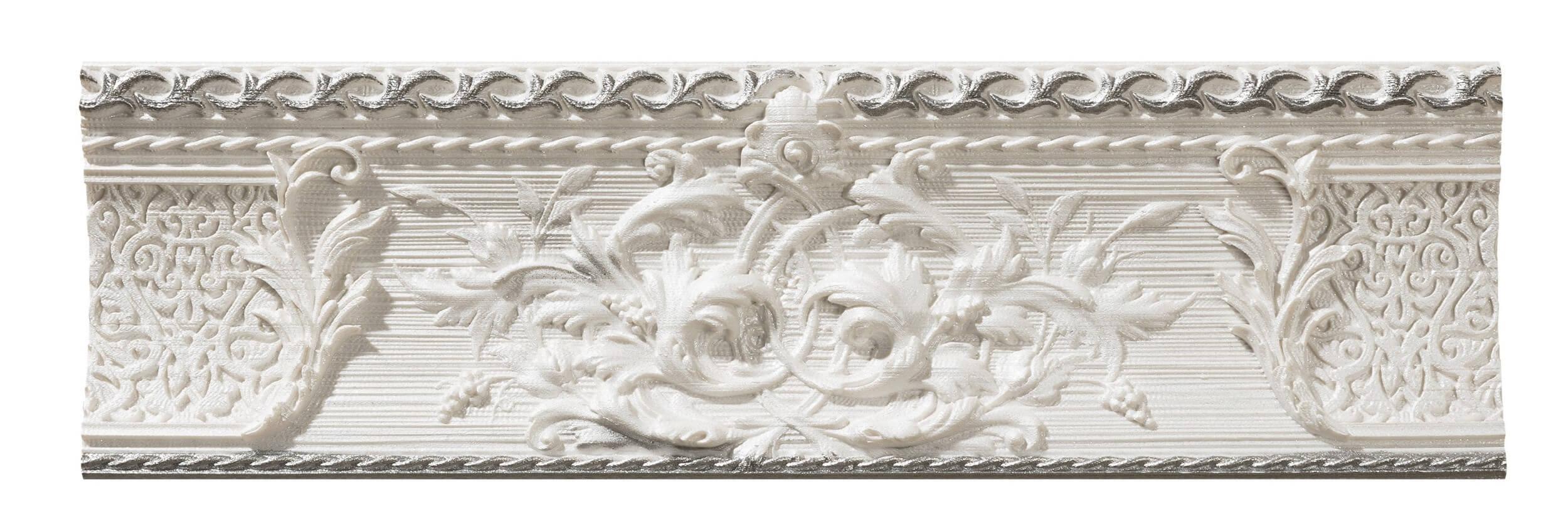 Бордюр Azulev List Delice Decoro Blanco 9x29 бордюр adex neri relieve clasico blanco z 7 5x15
