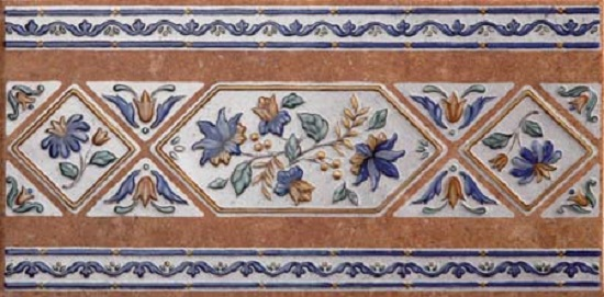 Mariola Ocre Cenefa Бордюр 165x333 мм/9 бордюр codicer 95 versalles orleans cenefa blue 25x25
