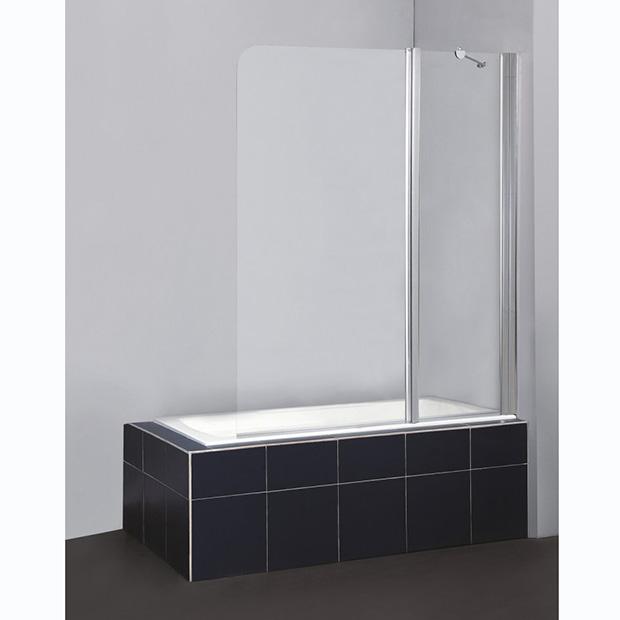 Шторка для ванны BelBagno Sela V-11-120/140-Ch-Cr-L душевая шторка на ванну belbagno sela v 11 120 140 ch cr r стекло chinchilla