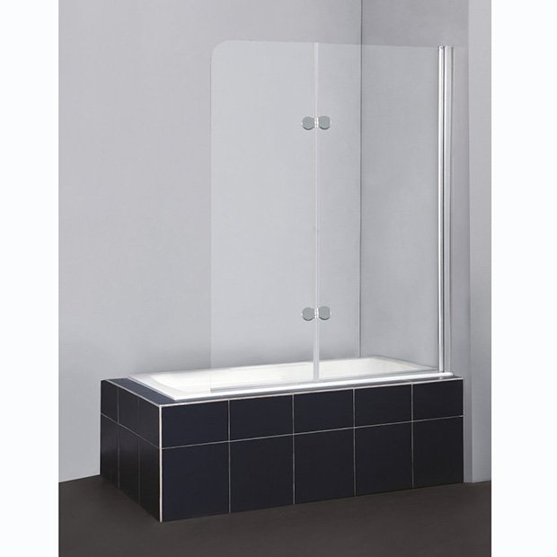 Шторка для ванны BelBagno Sela V-21-120/140-Ch-Cr-R душевая шторка на ванну belbagno sela v 11 120 140 ch cr r стекло chinchilla