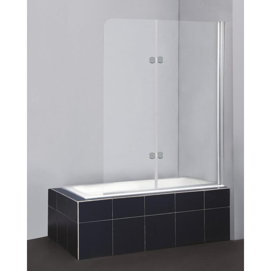 Шторка для ванны Belbagno Sela V-21-120/140-C-Cr двери