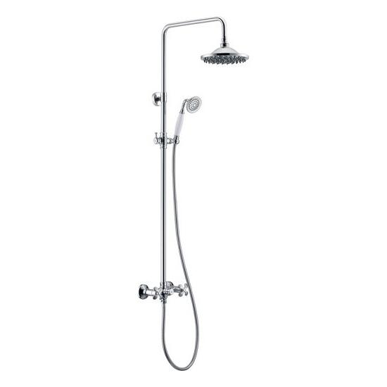 Душевая стойка BelBagno Slip SLI-DOC-CRM/Foglio душевая система belbagno slip со смесителем для ванны верхним и ручным душем ручки foglio хром sli doc crm foglio