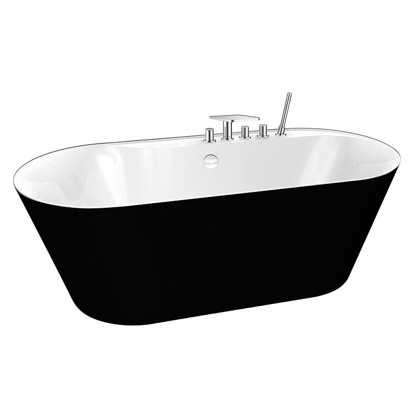 Акриловая ванна BelBagno BB14 NERO/BIA акриловая ванна belbagno bb14 nero bia 178x84