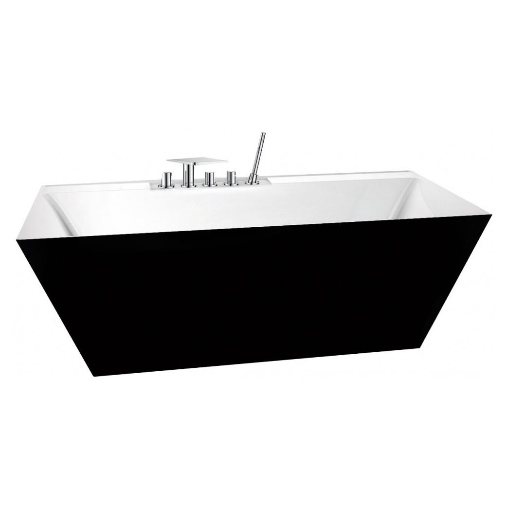 Акриловая ванна BelBagno BB19 Nero/Bia акриловая ванна belbagno bb14 nero bia 178x84