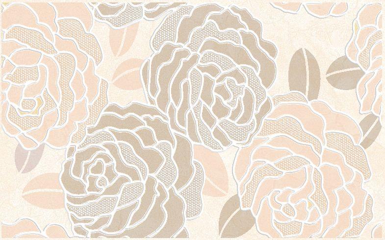 Декор Belleza Лидия бежевый 25x40 цена