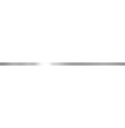 Бордюр Belleza Атриум гладкий платина 1x60