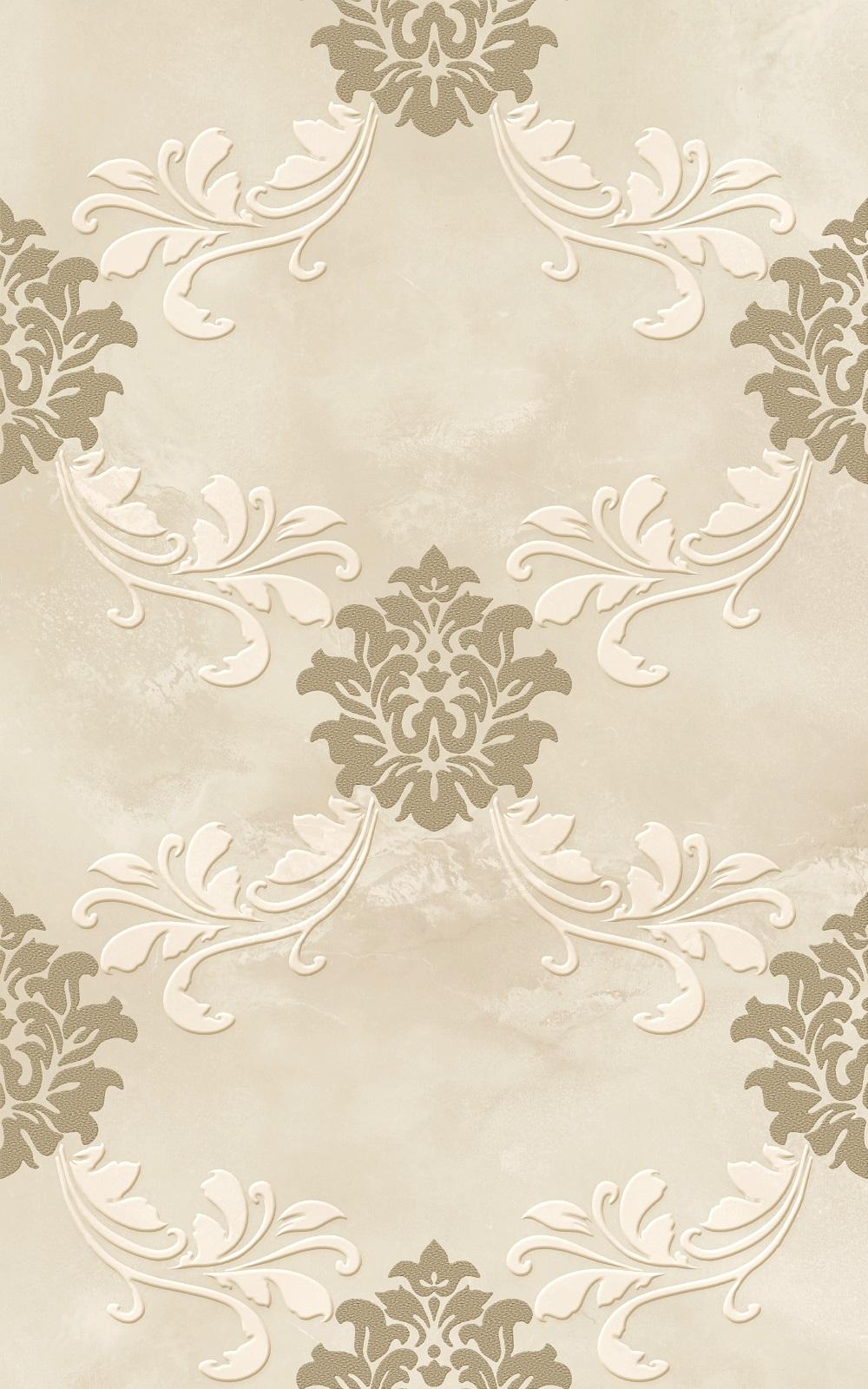 Декор Belleza Мия бежевый 25x40