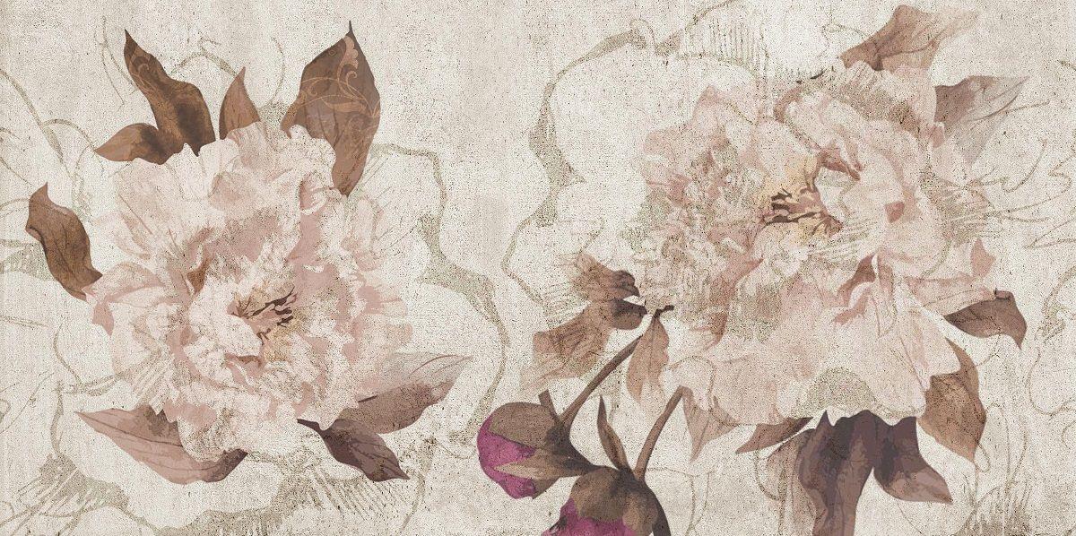 Настенная плитка Belleza Кэрол бежевая с рисунком 25x50 (1) цена 2017