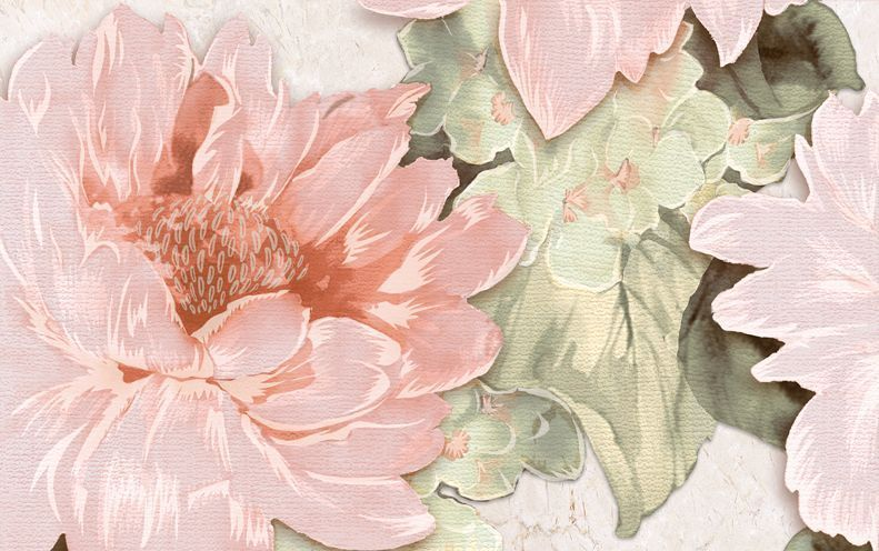 Декор Belleza Гардения бежевый 25x40 цена
