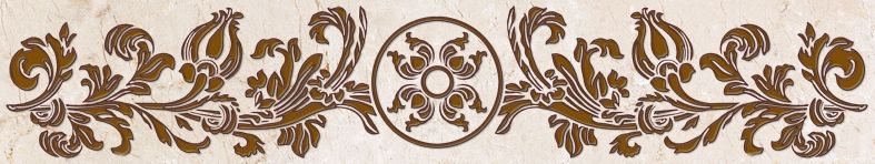 Бордюр Belleza Калинка коричневый 7,5x40