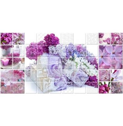 Декор Belleza Арома Сирень лиловый 25x50 optifit belleza mt 27
