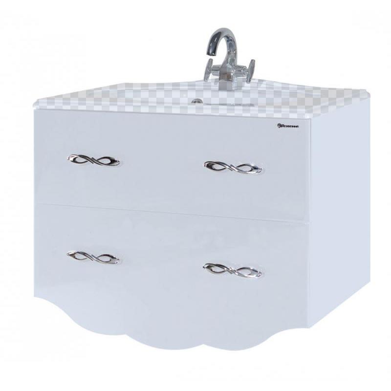 Тумба под раковину Bellezza Версаль 80 белый тумба под раковину домино уют 50 смайл с 2 ящиками красный dd4056t