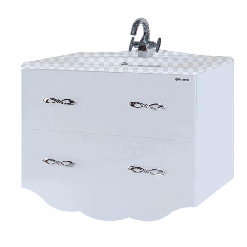 Тумба под раковину Bellezza Версаль 100 белый тумба под раковину домино уют 50 смайл с 2 ящиками красный dd4056t