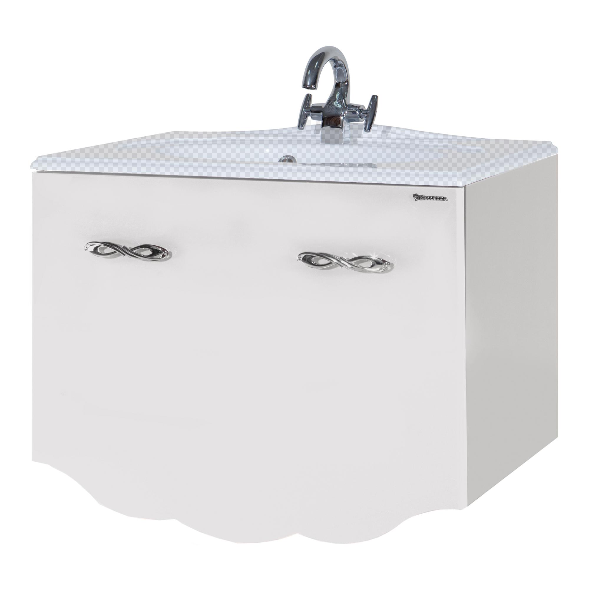 Тумба под раковину Bellezza Версаль 100 белый (внутр. 1) тумба под раковину домино уют 50 смайл с 2 ящиками красный dd4056t