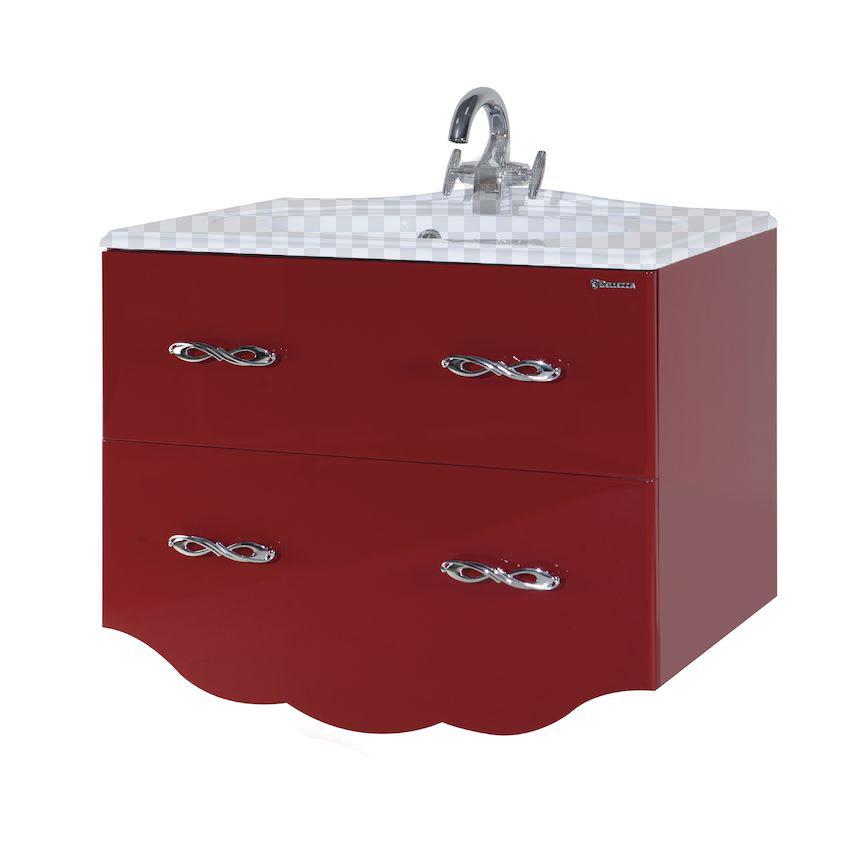Тумба под раковину Bellezza Версаль 80 красный тумба под раковину домино уют 50 смайл с 2 ящиками красный dd4056t