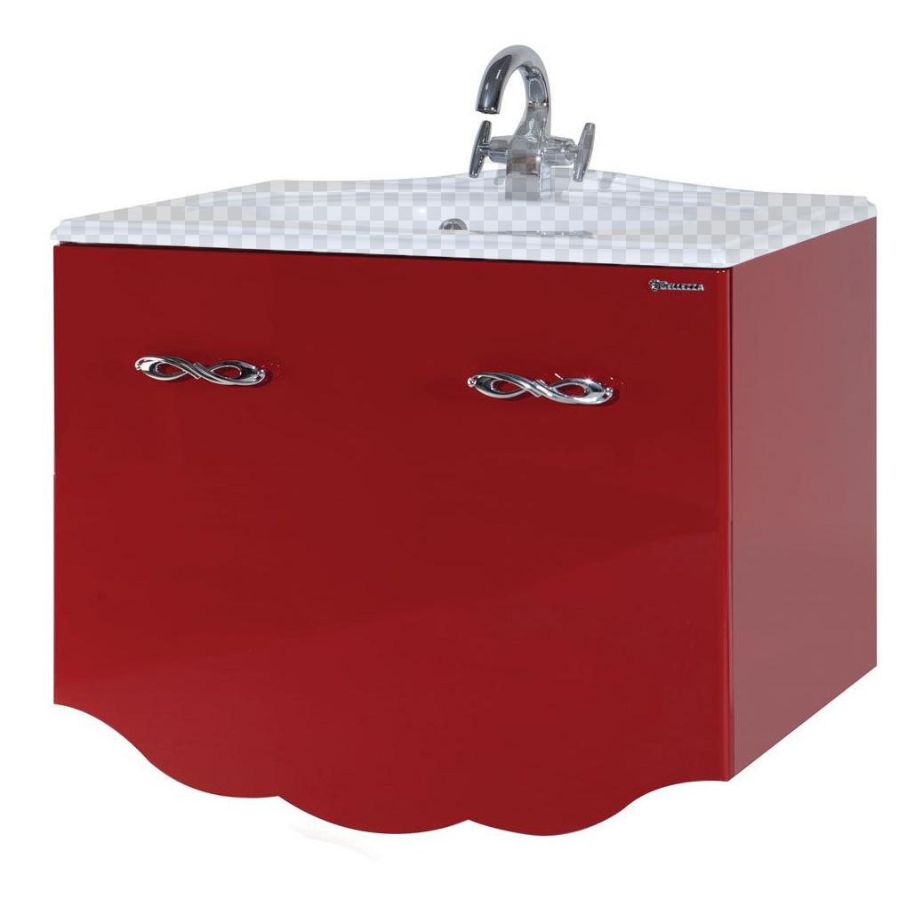 Тумба под раковину Bellezza Версаль 90 красный (внутр. 1) тумба под раковину домино уют 50 смайл с 2 ящиками красный dd4056t