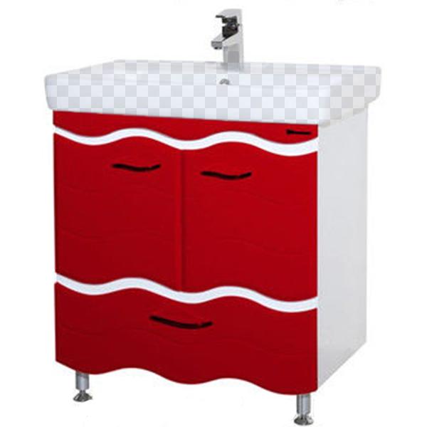 Тумба под раковину Bellezza Мари 80 белый/красный (волна) блузка klingel цвет красный белый