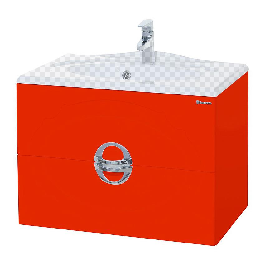 Тумба под раковину Bellezza Флоренция 80 красный тумба под раковину домино уют 60 смайл с 2 ящиками красный dd4070t