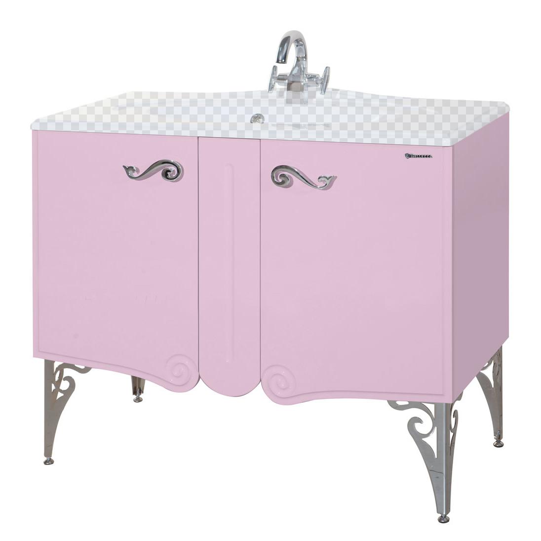 Тумба под раковину Bellezza Эстель 80 розовый босоножки quelle heine 182970