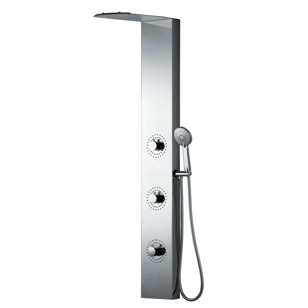 Душевая панель Black&White W52 ручной душ lemark lm0815c white