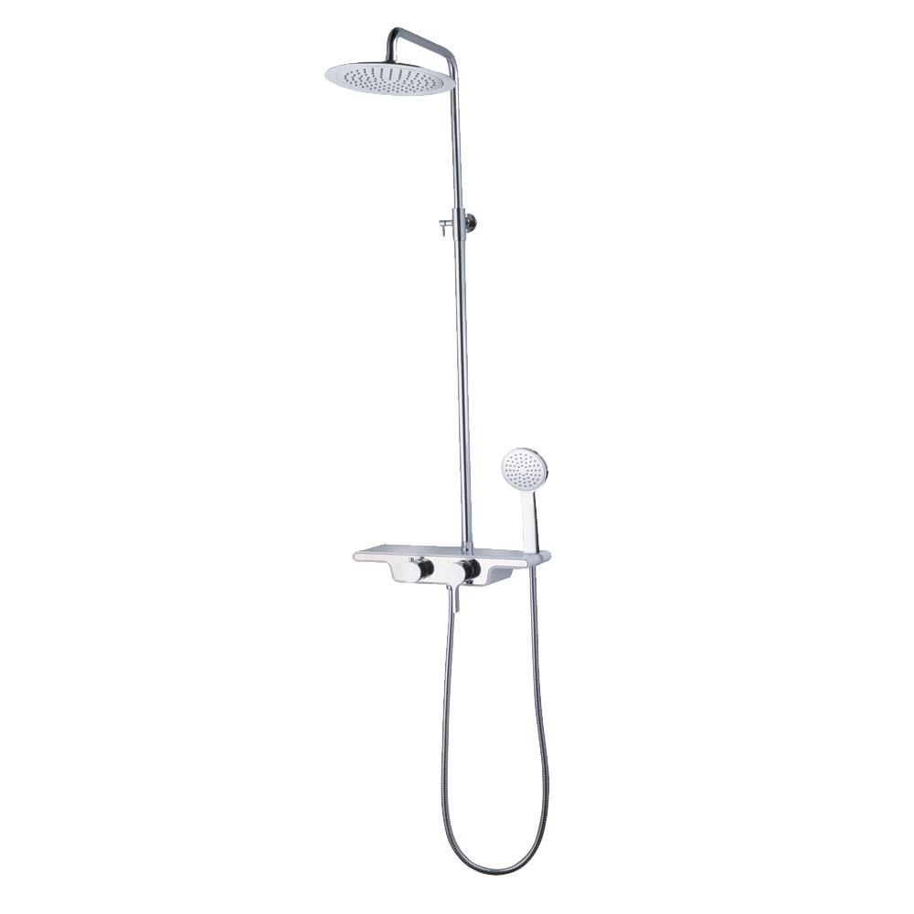 Душевая стойка Black&White W22 ручной душ lemark lm0815c white