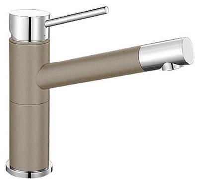 Смеситель Blanco Alta Compact 517633 хром/серый беж для кухни смеситель alta compact chrome tartuf 517633 blanco