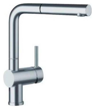 Смеситель Blanco Linus-S 517184 сталь полированнная для кухни смеситель для кухни blanco linus s рычаг справа нержавеющая сталь