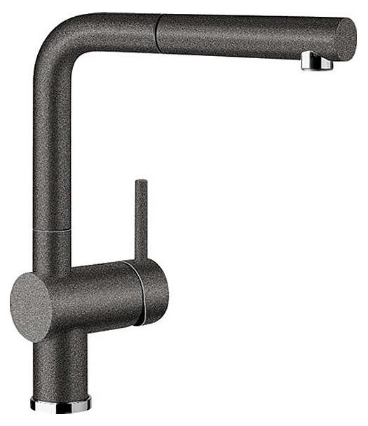 Смеситель Blanco Linus-S 516688 антрацит для кухни смеситель для кухни blanco linus s рычаг справа нержавеющая сталь