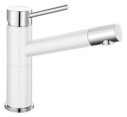 Смеситель Blanco Alta Compact 515317 хром/белый для кухни смеситель для кухни blanco tera хром