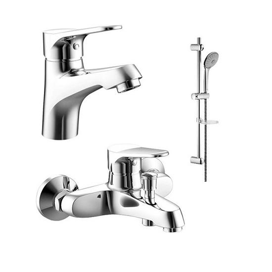Душевой набор Bravat Eco F00307C/00313С hideep 3 отверстия смеситель для ванной комнаты латунный смеситель для ванной комнаты